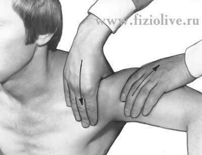 Массаж при травматических бурситах.