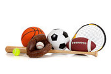 a set of sports equipment